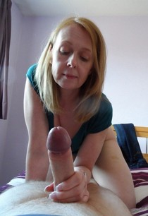 Incredible rookie handjob photo with a sexy blonde mature.