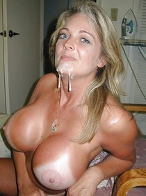 Hot rookie big load pic featuring hot blonde big tits.